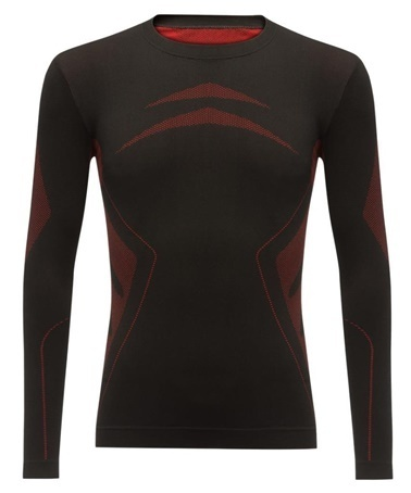 2AS 2AS High Performance Termal Erkek Üst İçlik Siyah/Kırmızı Siyah